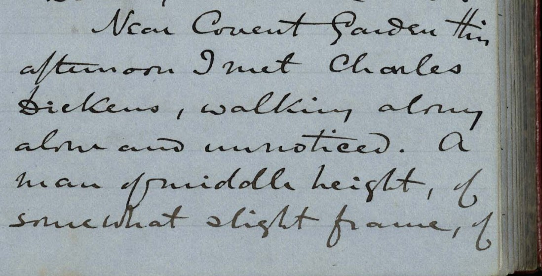 Munby's Diary, 10 May 1864. © Trinity College, Cambridge
