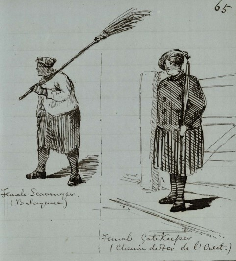 'Female scavenger' and 'Female Gatekeeper', © Trinity College, Cambridge