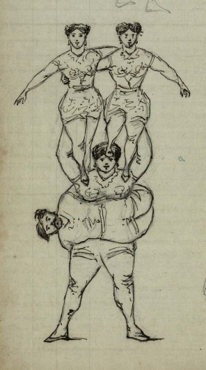 Female acrobats, © Trinity College, Cambridge