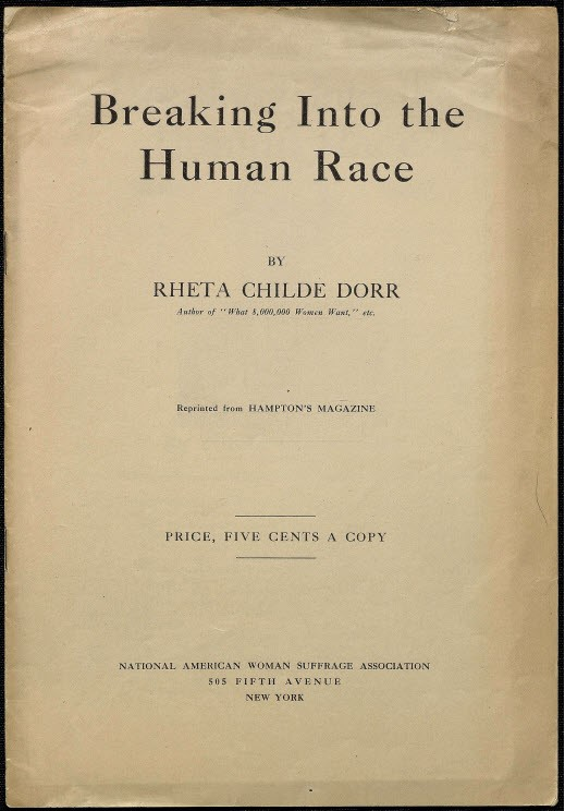 Breaking Into the Human Race, 1912, © Bryn Mawr College